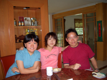 With Maiko and my little sister.