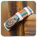 916 - Hard leather pottery bracelet