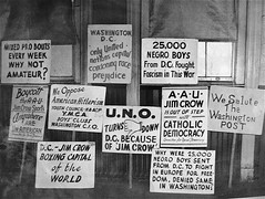Protest Signs, Campaign to integrate Uline Arena, (1942?)