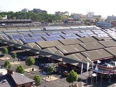 View dari atas Queen Victoria Market, Melbourne, Australia