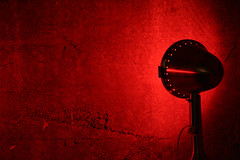 Red Lamp and Wall