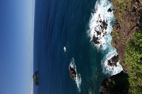 Coastal driving along TF-5 on the northern coast west of Puerto de la Cruz