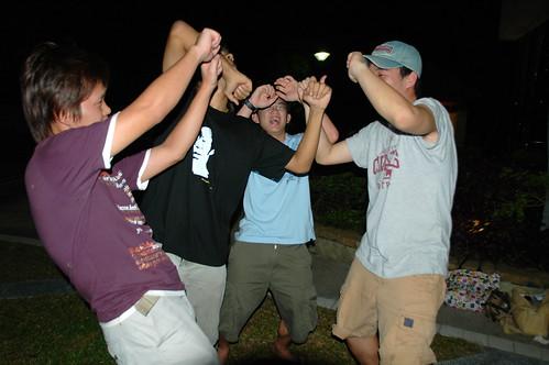 Drunks dancing