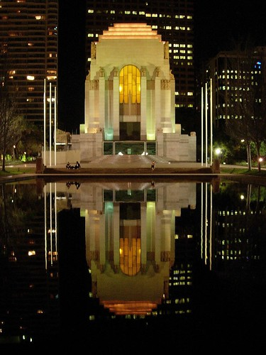 Anzac Memorial Reflection from the pond