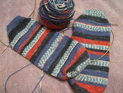 Stonewashed socks
