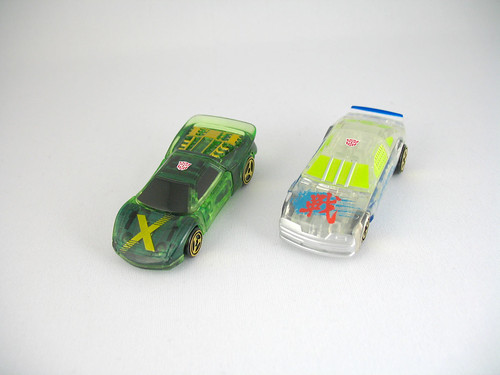 Takara Car Robots Super Spychanger X-Car and WARS (translucent)