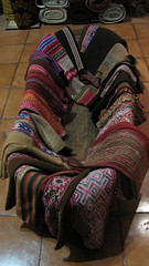 washbasin full of woven textiles (las pallas)