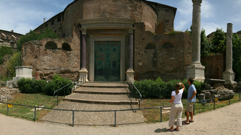 Temple of Romulus - Roman Forum