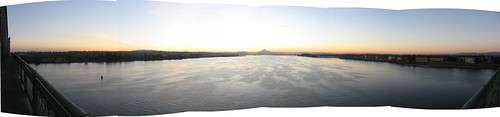 Mt. Hood & Columbia River At Dawn
