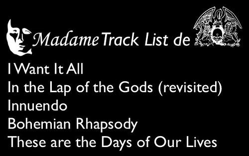 Madame Track List de Queen