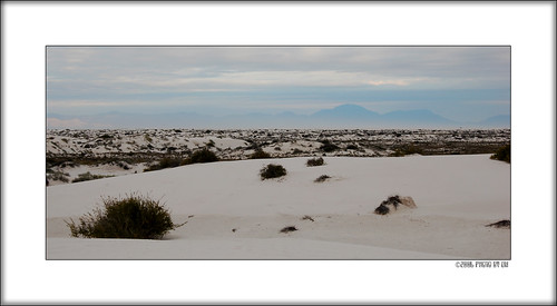 White Sands morning mist