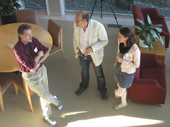 Bruce, Bengt & Maria chatting below