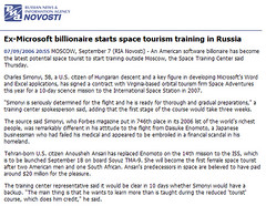 Ex-Microsoft billionaire starts space tourism training in Russia