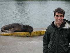 Ryan with sea lion