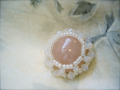 Rose Quartz + Swarovski Crystal