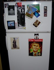 Warped picture of the fridge