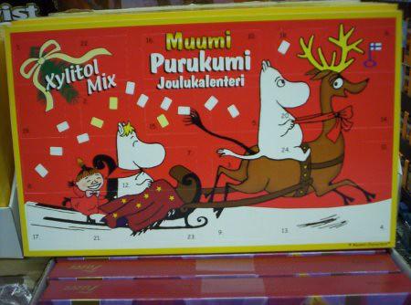 Calendario de adviento de  chocolate de Muumi