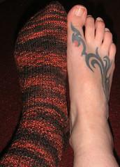 socks feet