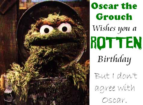 Oscar Birthday greeting