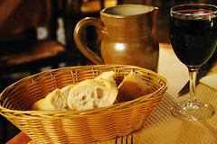 bread, water and wine
