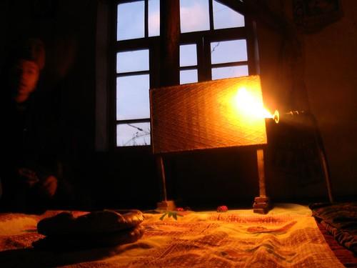 Methane heating/lighting in Taylaq Village, Uzbekistan / メタンガス焜炉権灯(ウズベキスタン、タイラック村)