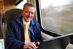 Jim Lally having a laugh on the 08.11
