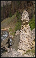 The Phallic Cone with the confluence behind it.  The cone itself is probably close to eight feet tall.