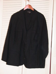 Black Linen Four-Button Blazer - LB 26/28 - $10