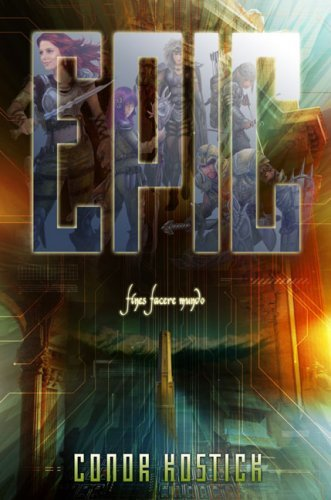 The new US cover for Epic by Conor Kostick