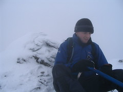me on top of the Cobbler - looking miserable!