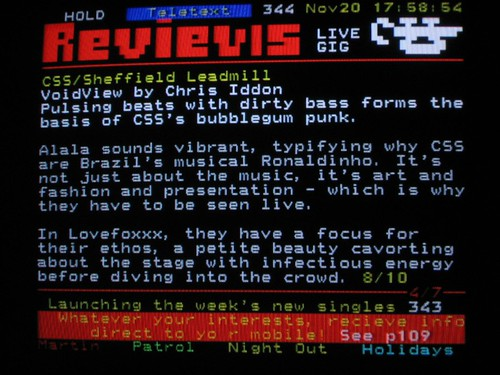 CSS review on teletext