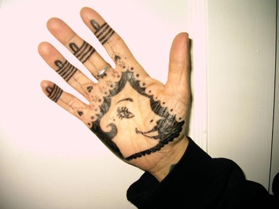 Cari's hand