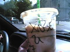 Café de Starbucks con mi nombre