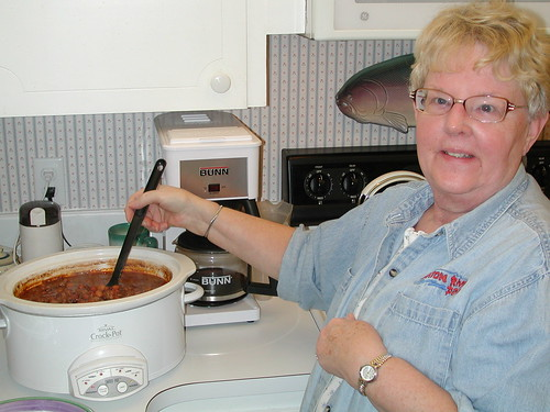 Linda and her award winning chili
