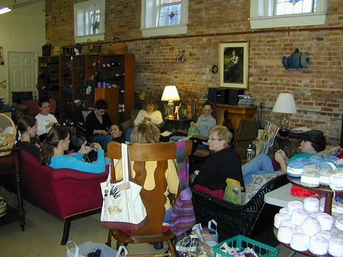 Knitting at Main Street Yarns, Watkinsville