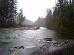 The most devastating Washout on the Index-Galena Road. At the 7.0mile marker approx.