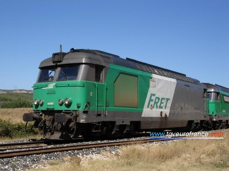 La BB 67494 en livrée FRET