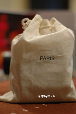 Paris in the bag, from MUJI