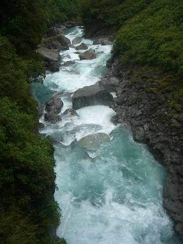 Rapids under the Gates of Haast Bridge