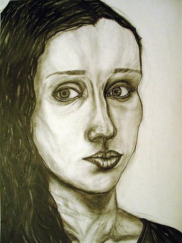 self portrait drawing by clair rosenberger