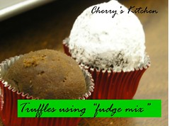 truffles-using fudge mix method