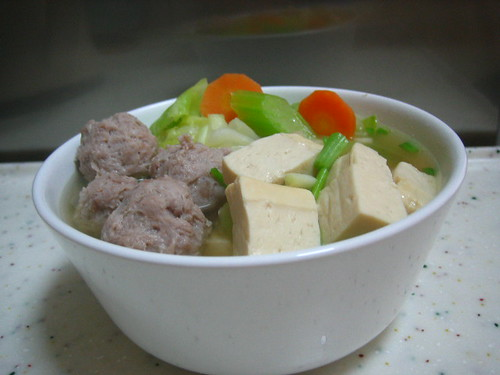 Meatball And Tofu Soup