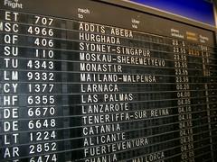 FRA's flight status board