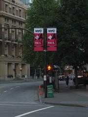 NYC pole sign