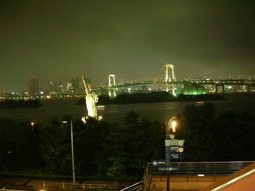 台場夜景-彩虹大橋、自由女神