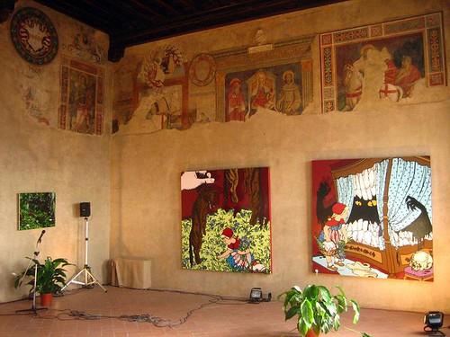 Modern Art in a 600 year old castle