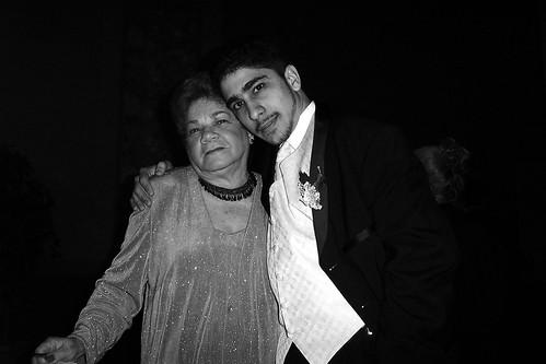 Abuela Aida and I in 2002 @ Tio Pedro's Wedding
