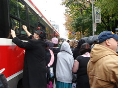 Zombies Mobbing Streetcar