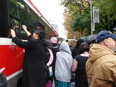 Zombies Mobbing Streetcar