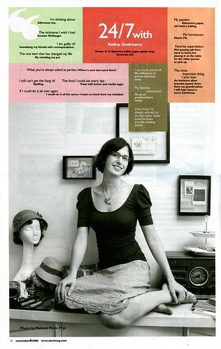 Interview in Skirt! magazine